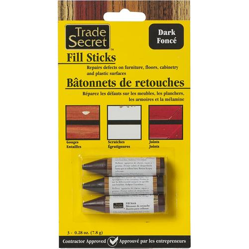 Get the Trade Secret 3 Pack Dark Tones Wood Fill Sticks at your local Home Hardware store.  Buy online and get Free Shipping to any Home location!