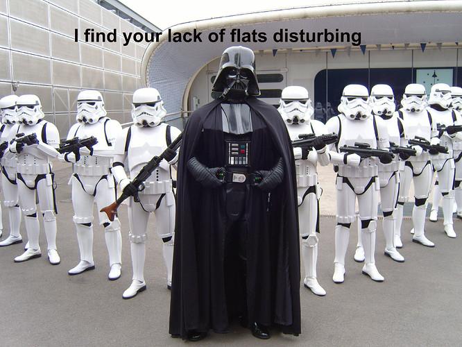 Lack of flats