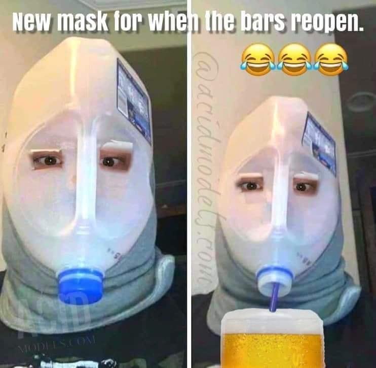 Mask for when bars reaopen